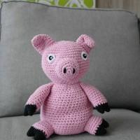 En tjock och glad gris